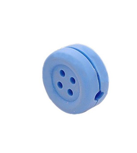 Kobwa(Tm) Silicone Button Mini Handheld Earphone Wire Wrap/Cord Keeper/Cable Winder -Random Color With Keyring