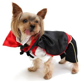 Petparty Vampire Dog Costumes For Dog Clothes Trendy Cozy Dog Coat Free Shipping,L front-650019