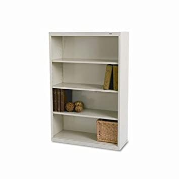 "Tennsco - Metal Bookcase Four-Shelf 34-1/2W X 13-1/2D X 52-1/2H Putty ""Product Category: Office Furniture/Bookcases & Door Kits"""
