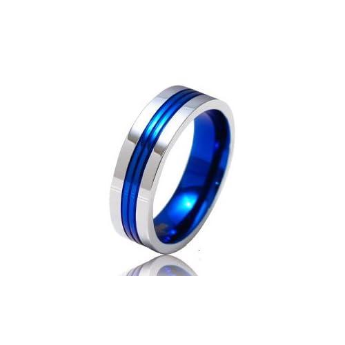 ステンレスリング 指輪 メンズ レディース 青 ブルー sr0089 【ブルー-11号】