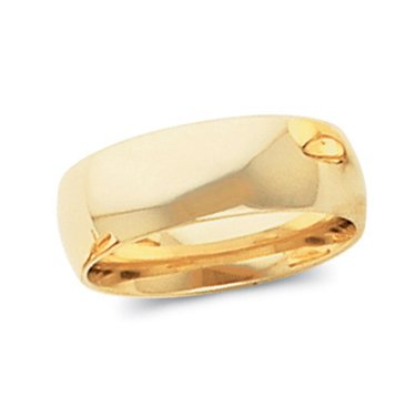 10K Yellow Gold, Light Comfort Fit Wedding Band 8MM (sz 13.5)