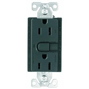 Cooper Wiring Devices 9566TRSG Aspire Tamper Resistant GFCI Duplex Receptacle, Silver Granite