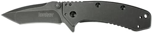 Kershaw Cryo 1555TBW Tanto Edge Folding Blade Pocket Knife, 2.75""