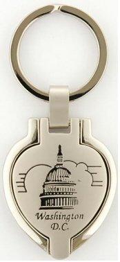 Washington D.C. Keychain - Picture Locket, Washington DC Keychains, Washington D.C. Souvenirs, WDC Gifts