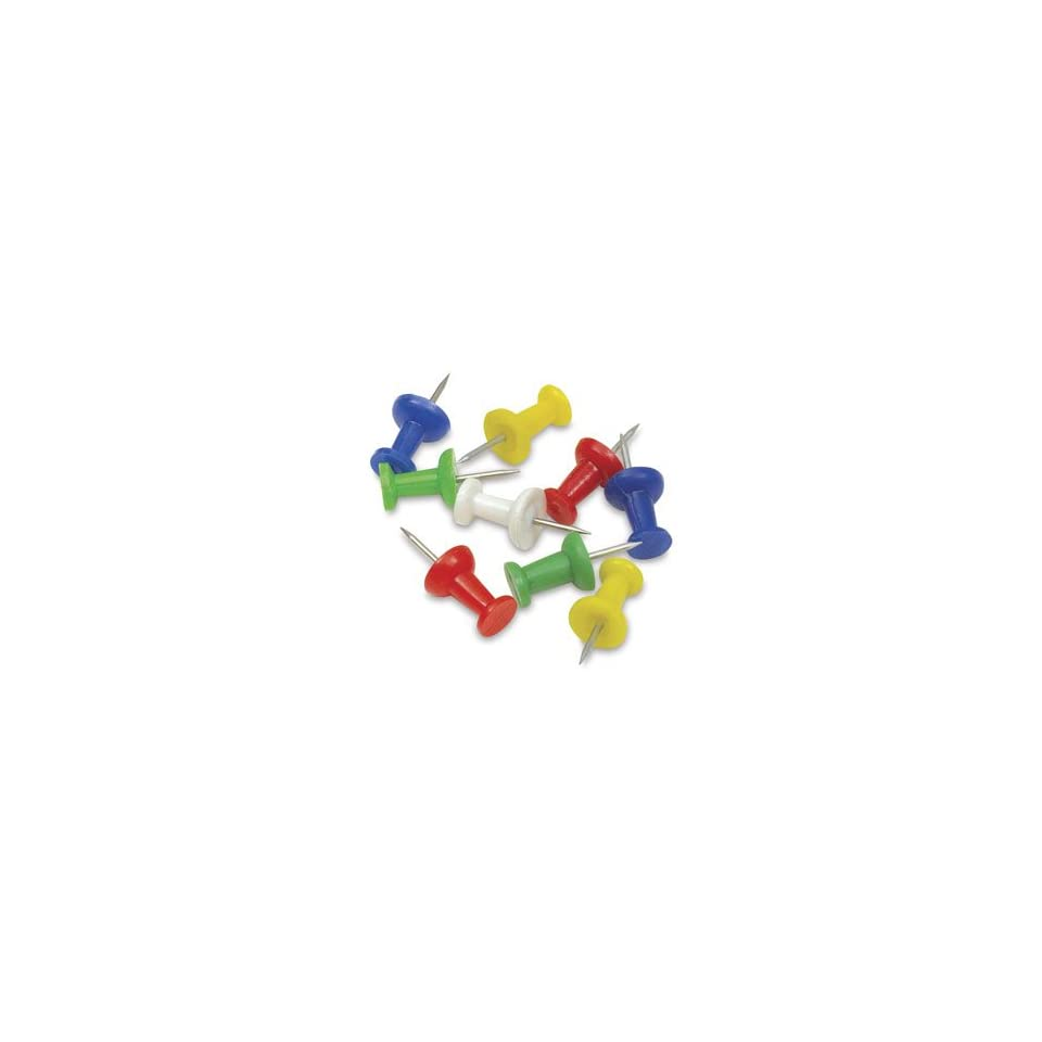 Moore Push Pins   Assorted, 3/8 (10 mm) Point, Push Pins, Pkg of 20, Plastic