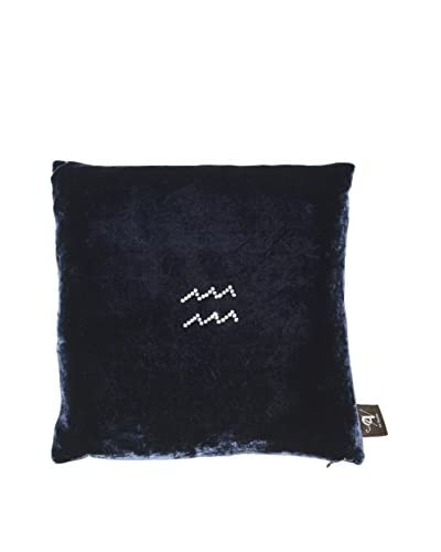 Aviva Stanoff Velvet Aquarius Pillow, Blue