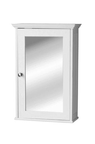 Premier-Housewares-Armario-de-pared-con-puerta-de-espejo-y-tirador-plateado-34-x-15-x-53-cm-color-blanco