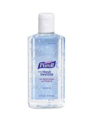 Gojo 4 Ounce Bottle Purell Instant Hand Sanitizer