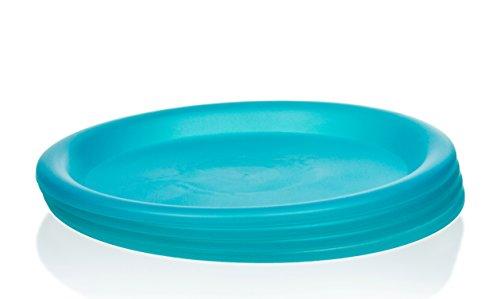 4 Pc Colorful Plastic Plates - 10