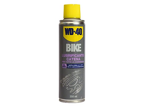 WD40 12230 Lubrificante Catena Bike Spray, Trasparente, 250 ml