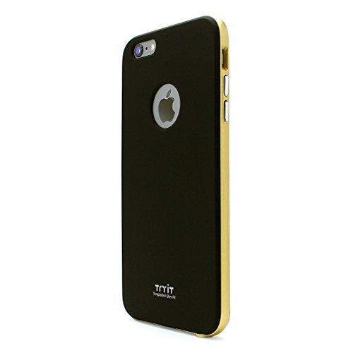 【日本正規代理店品】 Fantastick Tryit Slim Fit Case・メタリックシリーズ for iPhone6 Plus ブラック×ゴールド I6P06-14D423-01 I6P06-14D423-01