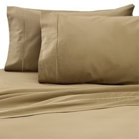1500 Thread Count Egyptian Cotton 1500TC Twin Extra Long Sheet Set, Twin XL, Brown Solid 1500 TC