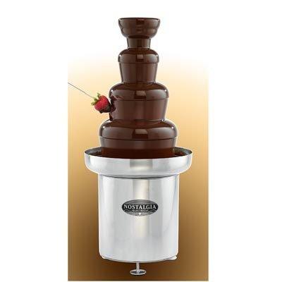 Nostalgia Electrics Nostalgia Electrics CFF552 Commercial Chocolate Fondue Fountain, Stainless Steel