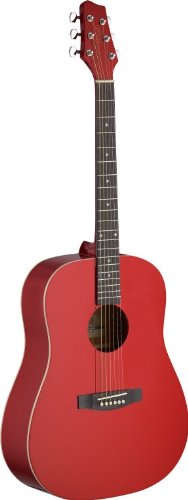 Stagg Sa30D-Ra Acoustic Guitar Dread -Red