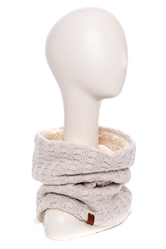 Rectangle Knit Faux Fur Snood