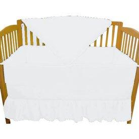 Solid White Crib Bumper