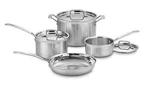 Best Cookware Set - Cuisinart MCP-7N MultiClad Pro Stainless-Steel Cookware 7-Piece Cookware Set Review