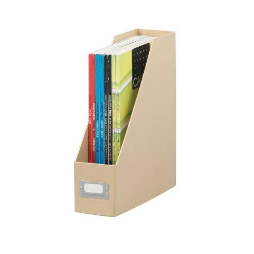 Zeller 17826 Boîte de rangement en carton pour magazines Naturel 32,5 x 10 x 27,5 cm