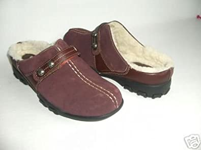 COLE HAAN MERIBEL BURGUNDY CLOG WOMEN SIZE 6
