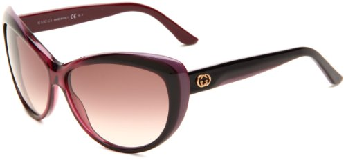 Gucci Women's 3510/S Cat Eye Sunglasses, Cherry