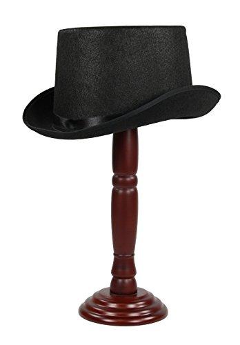 Super-Big-XL-Faux-Wool-Top-Hat-Black