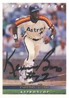 Kevin Bass Houston Astros 1993 Upper Deck Autographed Hand Signed Trading Card. by Hall+of+Fame+Memorabilia
