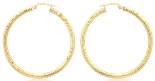 Carissima Gold - Boucles d'oreilles créoles - Femme - Or jaune (9 carats)