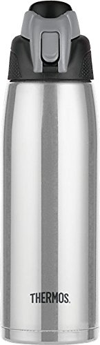 Thermos Vacuum Insulated 24 Ounce Stainless Steel Hydration Bottle, Stainless Steel (Thermos Insulated Stainless Steel compare prices)