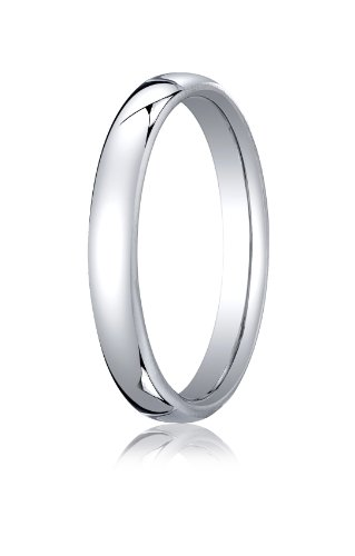 14K White Gold, 3.5mm European Comfort-Fit Ring (sz 13)