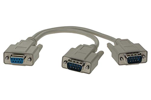 SF Cable, 1ft DB9 Female to 2 Male Serial RS232 Splitter Cable