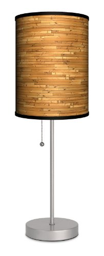 D?Cor Art - Wood Slats Sport Silver Lamp back-56882
