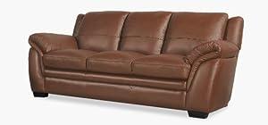 Toscana 3 Seater Tan Leather Sofa Amazon
