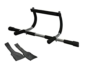 Wacces 3-in-1 Fitness Exercise Door Chin Pull Push Sit up Bar + Bonus Ab Strap by Technoline