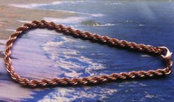 Solid Copper 9 Inch Anklet #6141d