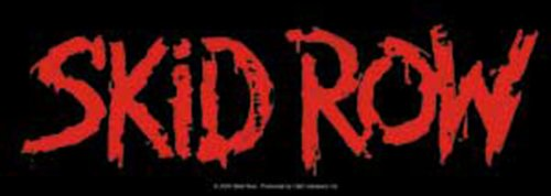 Licenses Products Skid Row Red Logo Sticker