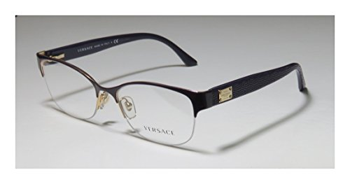 Versace 1222 Womens/Ladies Cat Eye Half-rim Flexible Hinges Eyeglasses/Glasses