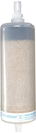 Whatman 6722-1003 VACU-GUARD 150 PTFE Molecular Sieve Vacuum Protection Filter, 15 psi Maximum Pressure, Hose Barb / Stepped Barb