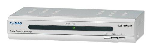 Comag SL 30 Digitaler Satelliten-Receiver (Scart-Anschluss, HDMI, USB 2.0) silber