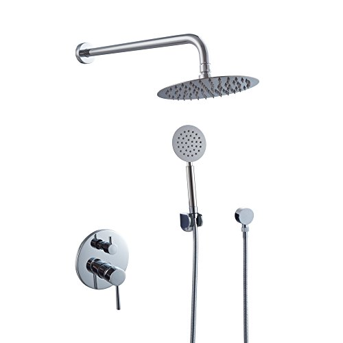 KES-Bathroom-Brass-Mixing-Valve-and-Trim-with-2-Function-Diverter-Round-Faceplate-Shower-Hose-Shower-Arm-Supply-Albow-and-Stainless-Steel-Showerhead-Complete-Kit-Polished-Chrome-X6228