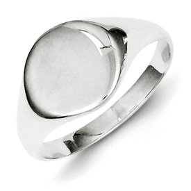Genuine IceCarats Designer Jewelry Gift Sterling Silver Signet Ring Size 7.00