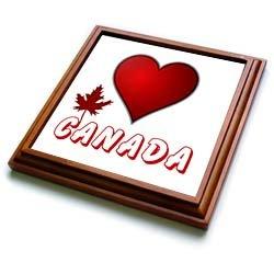 I Love Canada - 1 - 8x8 Trivet With 6x6 Ceramic Tile