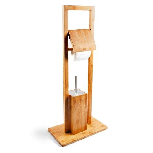 Toilettenbürste und Rollenhalter aus Bambus
