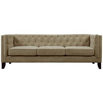 Lila Heather Sand Diamond Hand Tufted Sofa