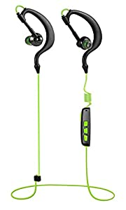 Basstyle Wireless Bluetooth Headphones, Noise Cancelling Gym Running Exercise Sports Hands Free Sweatproof, Suitable for iPhone 6, 6 Plus 6S 5 5C 5S 4 4S & Android (TB-1133, Green)