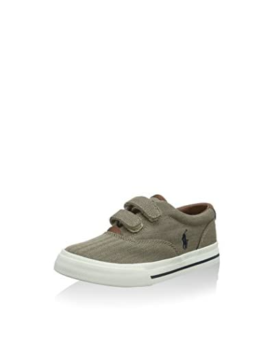 Ralph Lauren Sneaker Vaughn [Kaki/Blu Scuro]
