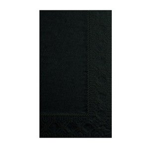 "Hoffmaster 180513 Dinner Napkin, Regal Embossed, 2-Ply, 1/8 Fold, 17"" Length x 15"" Width, Black (8 Packs of 125)"