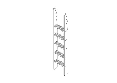 White Wooden Bunk Beds 9139 front