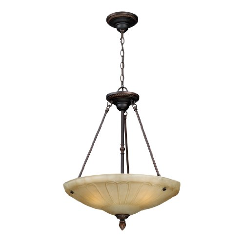 Landmark 66040-3 20-Inch 3-Light Restoration Pendant, Antique Golden Bronze