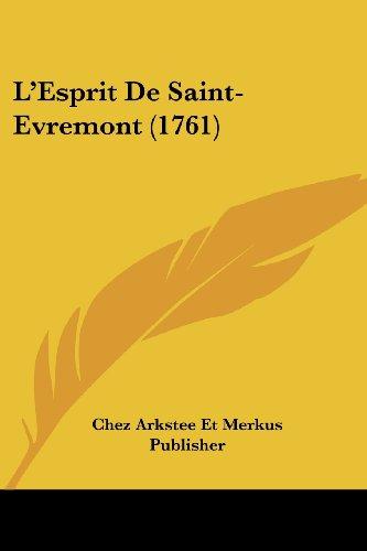 L'Esprit de Saint-Evremont (1761)