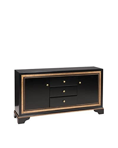 Coast to Coast Gold-Trimmed 3-Drawer & 2-Door Credenza